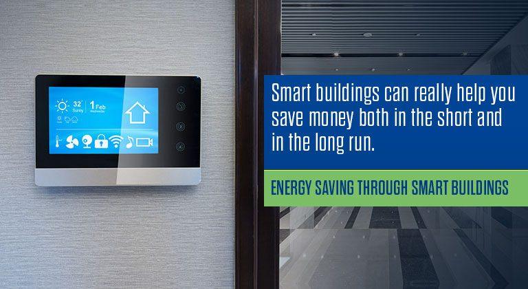 Energy saving through smart buildings