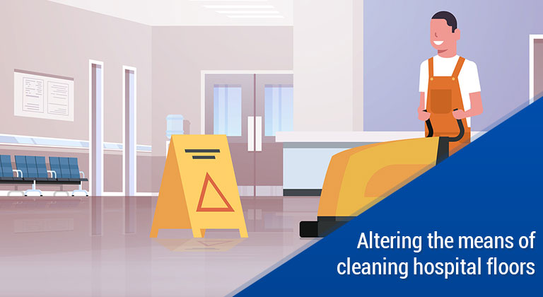 Altering the means of cleaning hospital floors