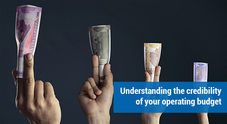 Understanding the credibility of your operating budget